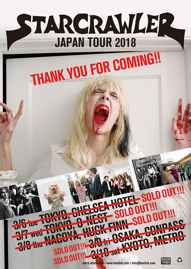 Starcrawler Japan Tour 2018