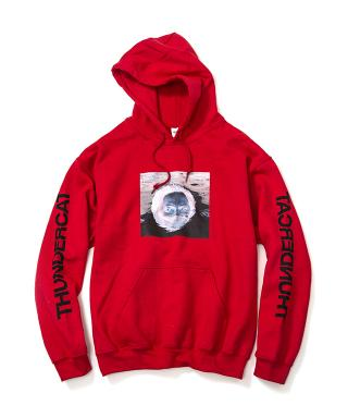 Thundercat - Drunk Reflect Hoodie (Red) [受注生産商品]
