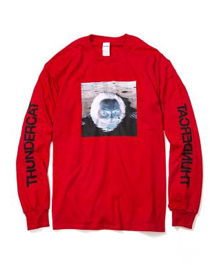 Thundercat - Drunk Reflect Long Sleeve (Red) [受注生産商品]