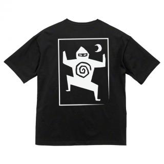 Ninja Tune - Woodcut Black T-Shirt [受注生産商品]