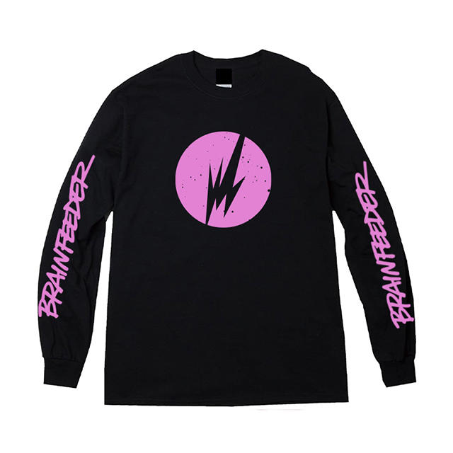 Brainfeeder Logo Long Sleeve (Black) [受注生産商品]