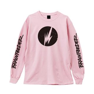 Brainfeeder Logo Long Sleeve (Pink) [受注生産商品]