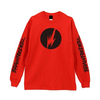 Brainfeeder Logo Long Sleeve (Red) [受注生産商品]