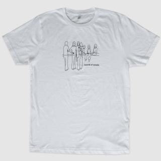 Music Has The Right To Children Black Outline T-Shirt (White)