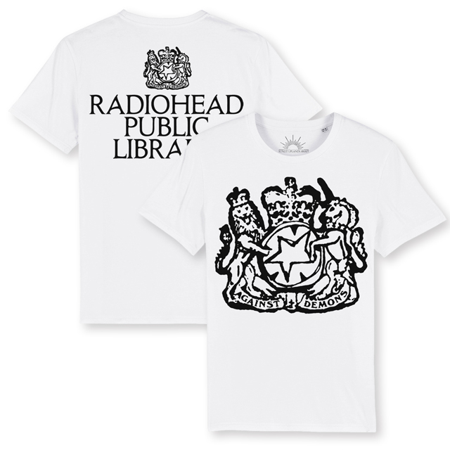 Radiohead The Librarian White T-Shirt