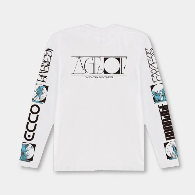 "Oneohtrix Point Never - ""Age Of"" Long Sleeve Tee (White)"